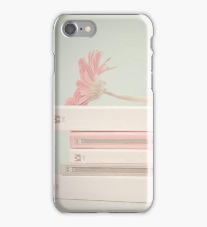 Nostalgic Books and Flower  iPhone Case/Skin