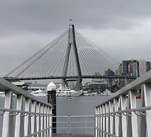 Anzac Bridge from Glebe  by Ron Fitzgerald