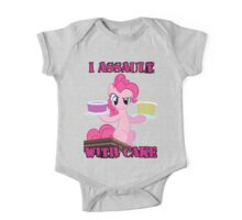 Pinkie Pie assaults with cake (My Little Pony: Friendship is Magic) One Piece - Short Sleeve