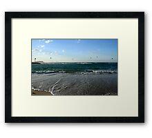 Kites At Currumbin Creek Framed Print