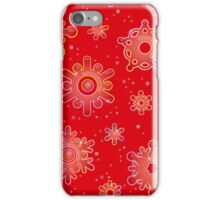 Seamless pattern for Christmas on red background iPhone Case/Skin