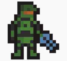 Super Pixel Master Chief Kids Tee