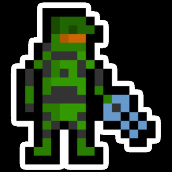 Super Pixel Master Chief by PixelBlock