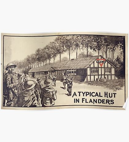 A typical hut in Flanders Poster