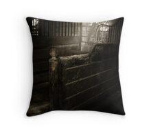 Forgotten Stall Throw Pillow