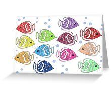 Rainbow Angelfish Greeting Card