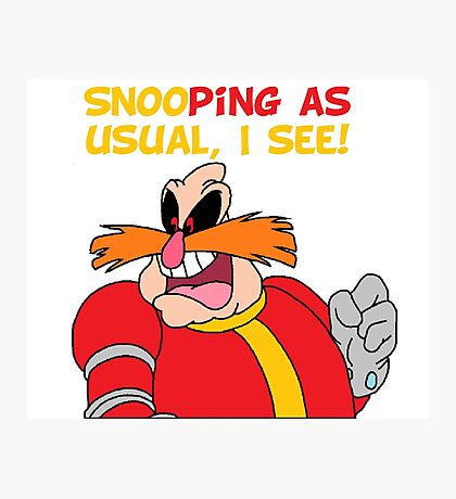 "Robotnik ""SnooPing As usual"" Photographic Print"