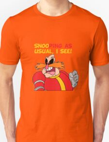 "Robotnik ""SnooPing As usual"" Unisex T-Shirt"