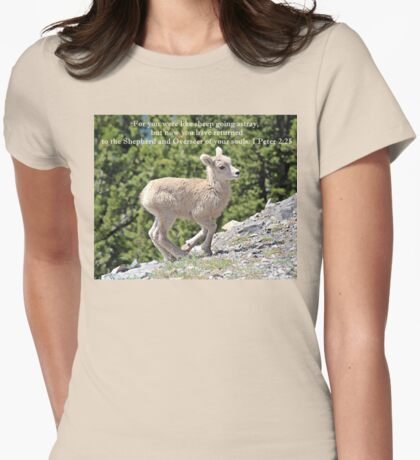 For You Were Like Sheep 1 Peter 2:25 Womens Fitted T-Shirt