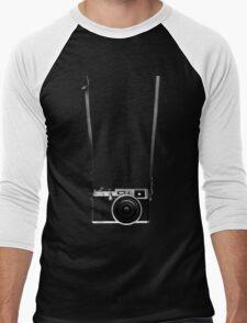 Vintage retro 35mm metal rangerfinder camera on isolated white background. T-Shirt