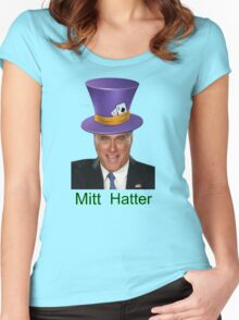 Mitt Romney 2012 mad Hatter Women's Fitted Scoop T-Shirt