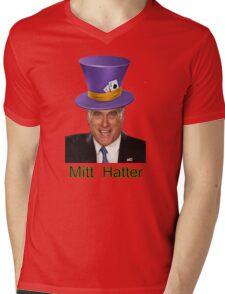Mitt Romney 2012 mad Hatter Mens V-Neck T-Shirt