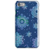 Seamless pattern for Christmas on blue background iPhone Case/Skin