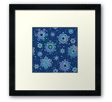 Seamless pattern for Christmas on blue background Framed Print