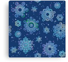 Seamless pattern for Christmas on blue background Canvas Print