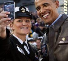 Obama se prend en photo. Sticker