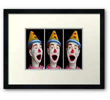 Laughing clowns Framed Print
