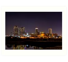 Skyline - Fort Worth, TX Art Print