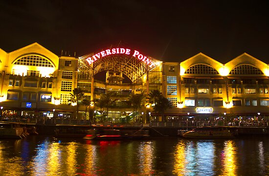 Shimmer of the water at Clarke Quay in Singapore by ashishagarwal74