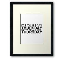 It's THURSDAY! Friday Lyrics Parody - Critical Role Framed Print