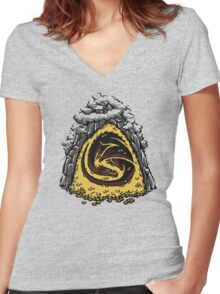 Within the Lonely Mountain Women's Fitted V-Neck T-Shirt