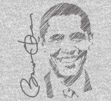 Obama Sketch 2012 Women's Shirt One Piece - Short Sleeve