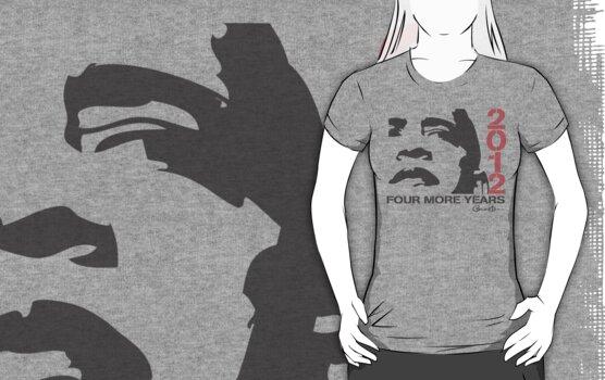 Obama 2012 Four More Years Women's Shirt  by ObamaShirt
