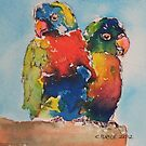 Lorikeets by christine purtle
