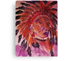 The Chief, watercolor Canvas Print