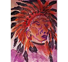 The Chief, watercolor Photographic Print