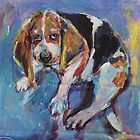 Bashful beagle by christine purtle