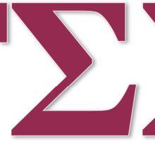 Gamma Sigma Sigma Letters Sticker