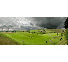 Golfers at the golf course Photographic Print