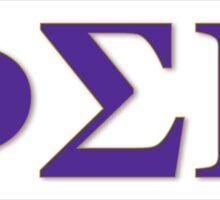 Phi Sigma Pi Letters Sticker