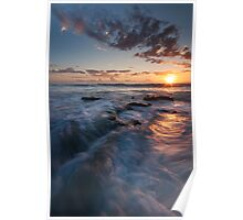 """Sunset Swirl"" Poster"