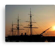 Sunset of the Tallships Canvas Print