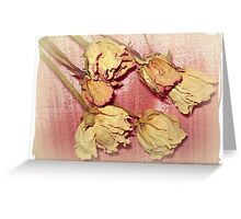 Aged Beauty - Dried Roses Greeting Card
