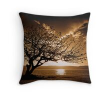 Golden Sun Throw Pillow