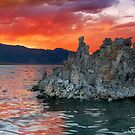 Fiery Sunset over Mono Lake by MattGranz