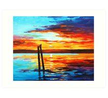 Swansea Sunset Art Print