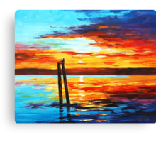 Swansea Sunset Canvas Print