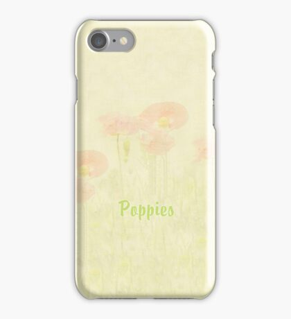 Poppies Monet Style iPhone Case iPhone Case/Skin