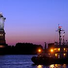 Statue of Liberty at Night by Lilliana Méndez