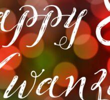 Happy Kwanzaa Bokeh Lights Sticker
