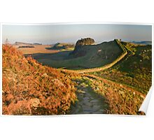 An Autumnal day on Hadrian's Wall Poster