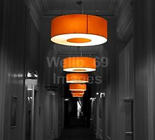 Orange Lampshades by Wellb69Images