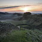 Cuddys Crag on Hadrian's Wall by Joan Thirlaway