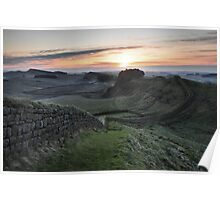 Cuddys Crag on Hadrian's Wall Poster