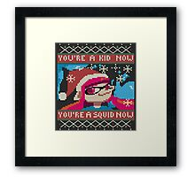 Knitted Ugly Sweater Splatoon Girl from Splatoon Framed Print