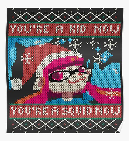 Knitted Ugly Sweater Splatoon Girl from Splatoon Poster